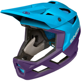 Endura MT500 Full Face Helm, electric blue